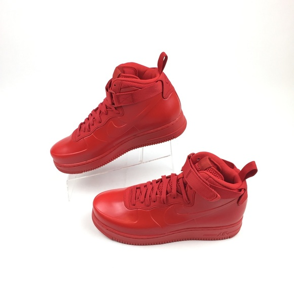 purchase cheap f5352 6bbdb Nike Air Force 1 Foamposite Cupsole Shoes Uni Red